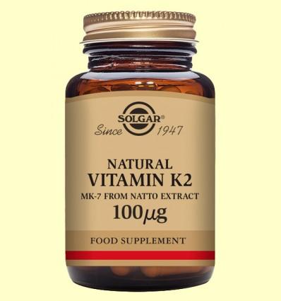 Vitamina K2 100 gu - Solgar - 50 càpsules vegetals *