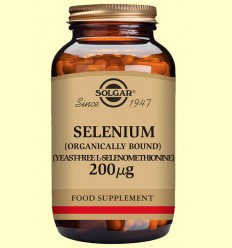 Seleni 200 gu - Sense llevat - Solgar - 250 comprimits