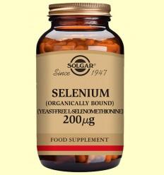 Seleni 200 gu - Sense llevat - Solgar - 50 comprimits *