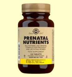 Nutrients Prenatals - Per a dones - Solgar - 120 comp.