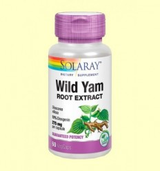 Wild Yam - Extracte de Nyam Mexicà - Solaray - 60 càpsules