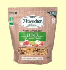 Muesli Crunchy 6 Fruites - Favrichon - 500 grams