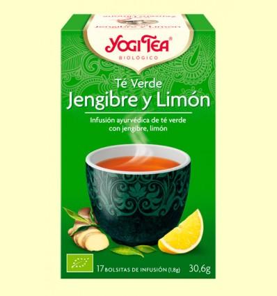 Te Verd Gingebre i Llimona - Yogi Tea - 17 bossetes d'infusió