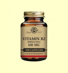 Vitamina B2 Riboflavina 100mg - Solgar - 100 càpsules