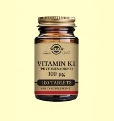 Vitamina K1 (fitomenadiona) 100 mg - Solgar - 100 comprimits