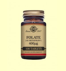 Folato (Metafolin®) 400 mg - Solgar - 100 comprimits