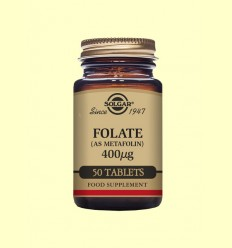 Folato (Metafolin®) 400 mg - Solgar - 50 comprimits