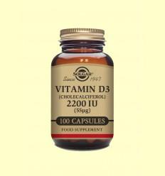Vitamina D3 (Colecalciferol) 2200 UI - Solgar - 100 càpsules