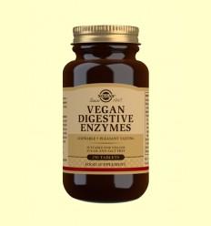 Vegan Enzims Digestives - Ajudes digestives i Probiòtics - Solgar - 250 comprimits