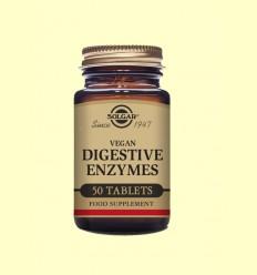 Vegan Enzims Digestives - Ajudes digestives i Probiòtics - Solgar - 50 comprimits