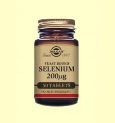 Seleni en Llevat 200 mg - Solgar - 50 comprimits