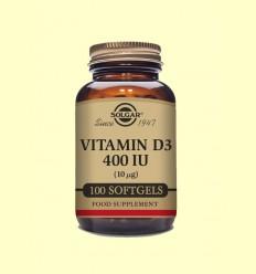 Vitamina D3 400 UI - Solgar - 100 càpsules toves