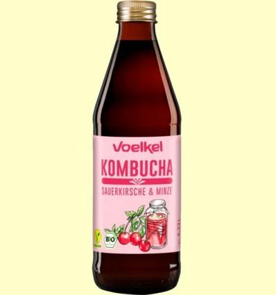 Kombucha Cirera i Menta Bio - Voelkel - 330 ml