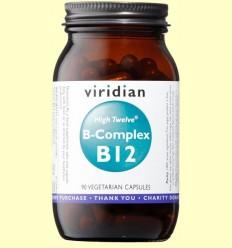 High Twelve Vitamin B12 amb B-Complex - Viridian - 90 Càpsules
