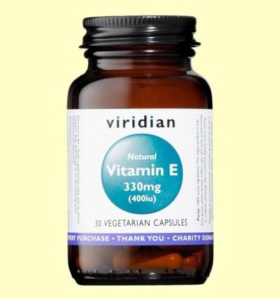 Vitamina E Natural 400iu - Viridian - 30 Càpsules