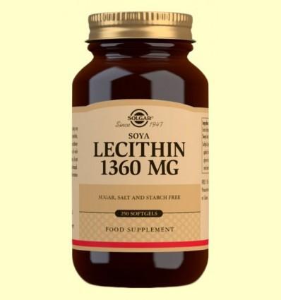 Lecitina de Soja 1360 mg - Solgar - 250 càpsules toves