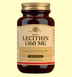 Lecitina de Soja 1360 mg - Solgar - 100 càpsules toves *