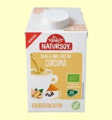 Beguda Ecològica d'Arròs amb Coco i Cúrcuma - Natursoy - 500 ml
