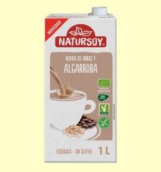 Beguda Ecològica d'Arròs i Garrofa - Natursoy - 1 Litre