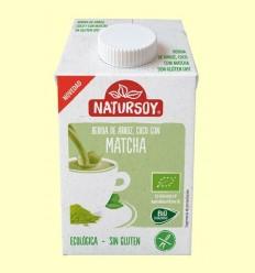 Beguda Ecològica d'Arròs amb Coco i Te Matcha - Natursoy - 500 ml