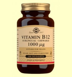 Vitamina B12 1000 mg - Solgar - 100 comprimits masticables