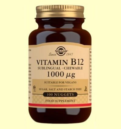 Vitamina B12 1000 mg - Solgar - 100 comprimits masticables
