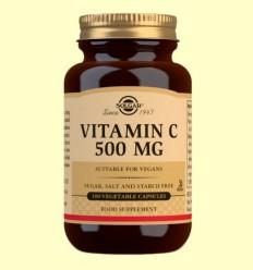 Vitamina C 500 mg - Solgar - 100 càpsules vegetals