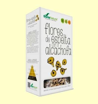Flors d'Espelta amb Carxofa - Pasta Ecològica - Soria Natural - 250 grams
