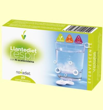 Llantediet - Sistema Respiratori - Novadiet - 20 comprimits efervescents