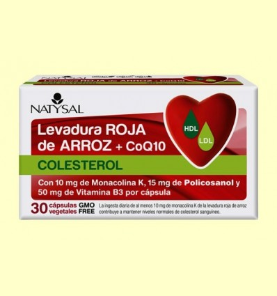 Llevat Roja d'Arròs + CoQ10 - Natysal - 30 càpsules