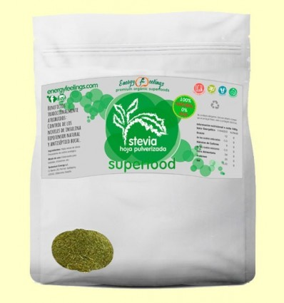 Estèvia Eco Fulles polvoritzades - Energy Feelings - 250 grams