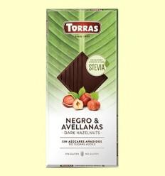 Xocolata Stevia Negre amb Avellanes - Torras - 125 grams