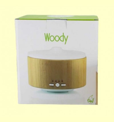 Woody - Difusor de vidre i fusta - Gisa Wellness - 1 unitat