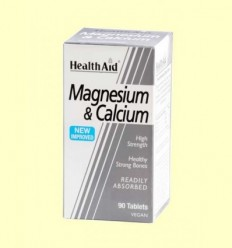 Magnesi + Calci - Health Aid - 90 comprimits