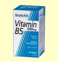 Vitamina B5 (Pantotenat càlcic) 690 mg - Health Aid - 30 comprimits