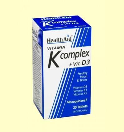 Vitamina K Complex amb vitamina D3 - Health Aid - 30 comprimits