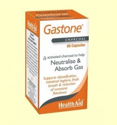 Gastone - Carbó pur activat - Health Aid - 60 càpsules