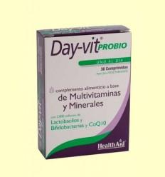 Day-Vit Probio amb probiòtics i CoQ10 - Coenzim Q-10 - Health Aid - 30 comprimits