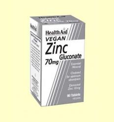 Gluconat de zinc 70 mg - Health Aid - 90 comprimits