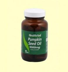 Oli de llavor de carbassa 1000 mg - Health Aid - 60 càpsules