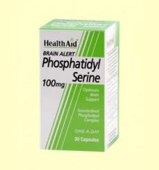 Brain Alert - Fosfatidilserina 100 mg - Health Aid - 30 cáspulas