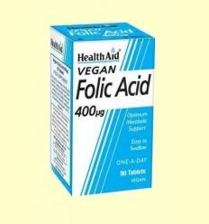 Àcid Fòlic 400 gu - Health Aid - 90 comprimits