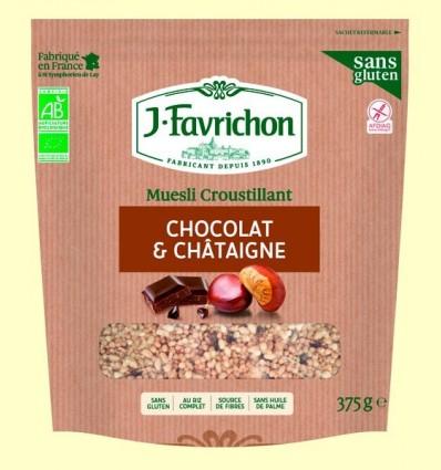 Muesli Crunchy Xocolata i Castanya Bio - Favrichon - 375 grams