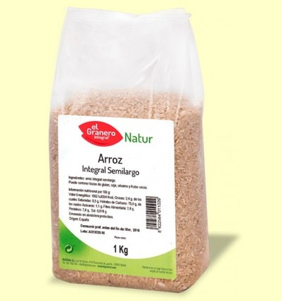 Arròs Integral semi-llarg - El Granero - 1kg