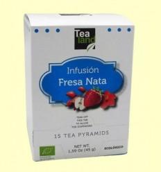 Infusió Maduixes amb Nata - Tealand - 15 piràmides