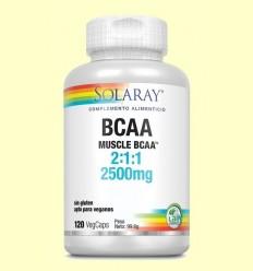 BCAA 2500 mg - Aminoàcids - Solaray - 120 càpsules