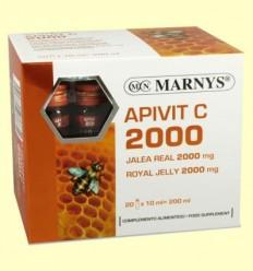 Apivit C 2000 mg - Gelea Reial i Vitamina C - Marnys - 20 ampolles