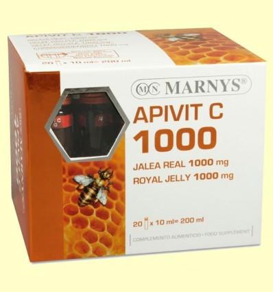 Apivit C 1000 mg - Gelea Reial i Vitamina C - Marnys - 20 ampolles