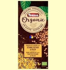 Xocolata negra Eco amb sèsam torrat i pol·len Eco - Torras - 100 grams
