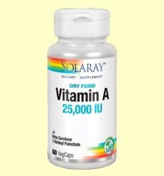 Dry A - Vitamina A - Solaray - 60 càpsules